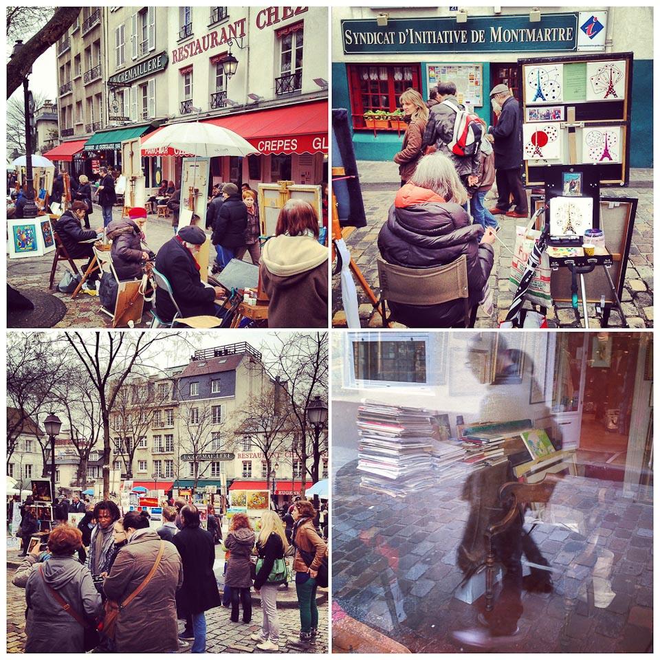 Künstler auf dem Place du Tertre in Paris