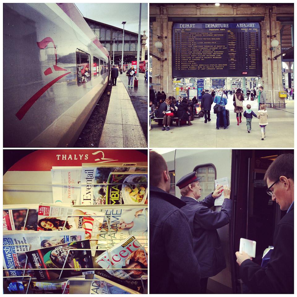 mit dem Thalys von Köln nach Paris