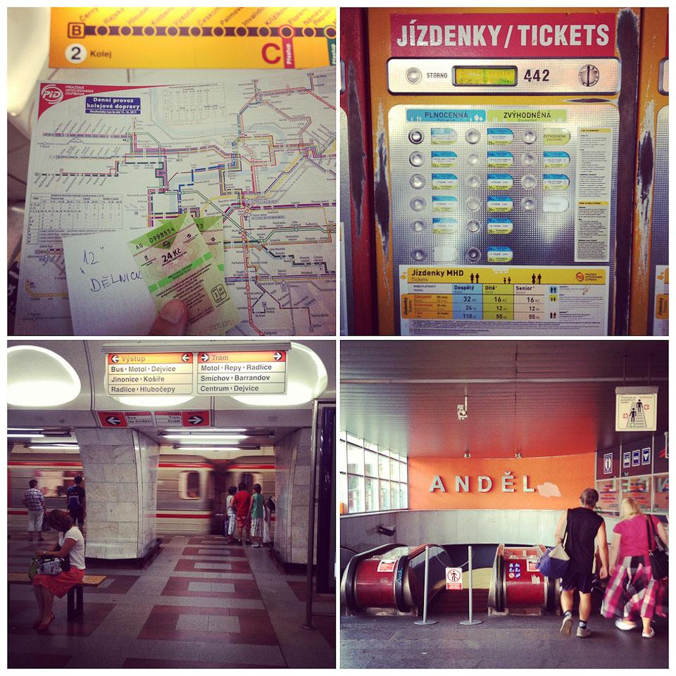 U-Bahn Prag Andel