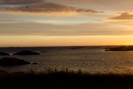 Ein Sonnenuntergang auf Haholmen in Norwegen