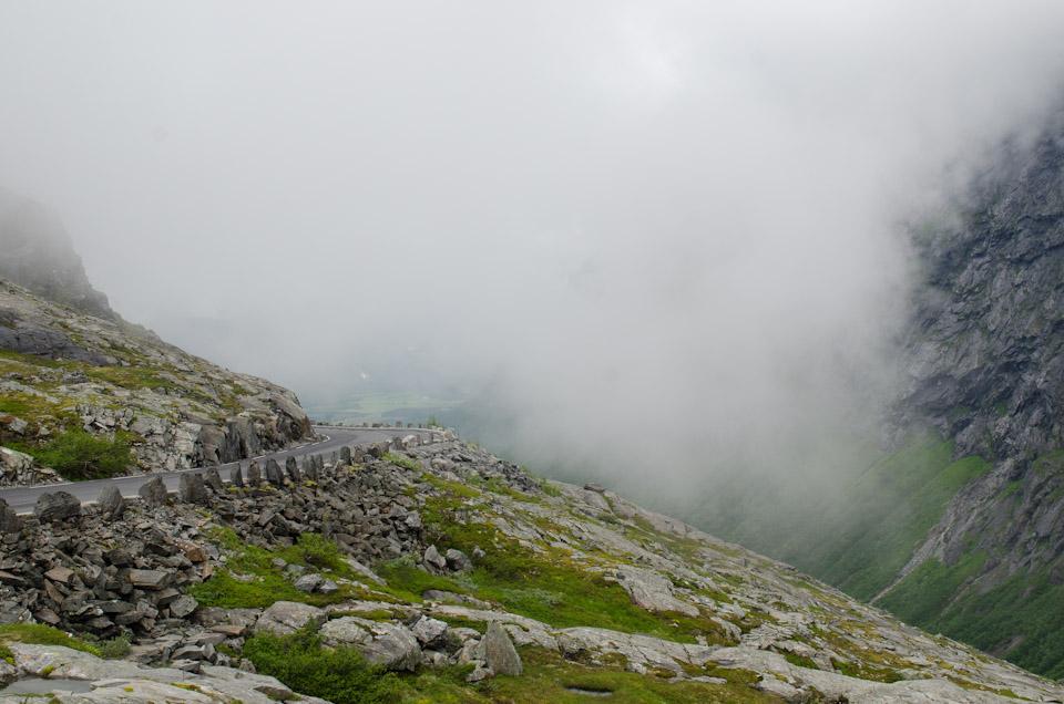 Trollstigen im Nebel