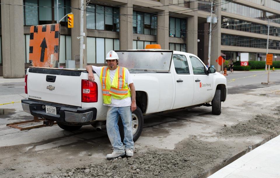 Bauarbeiter an der Yonge Street