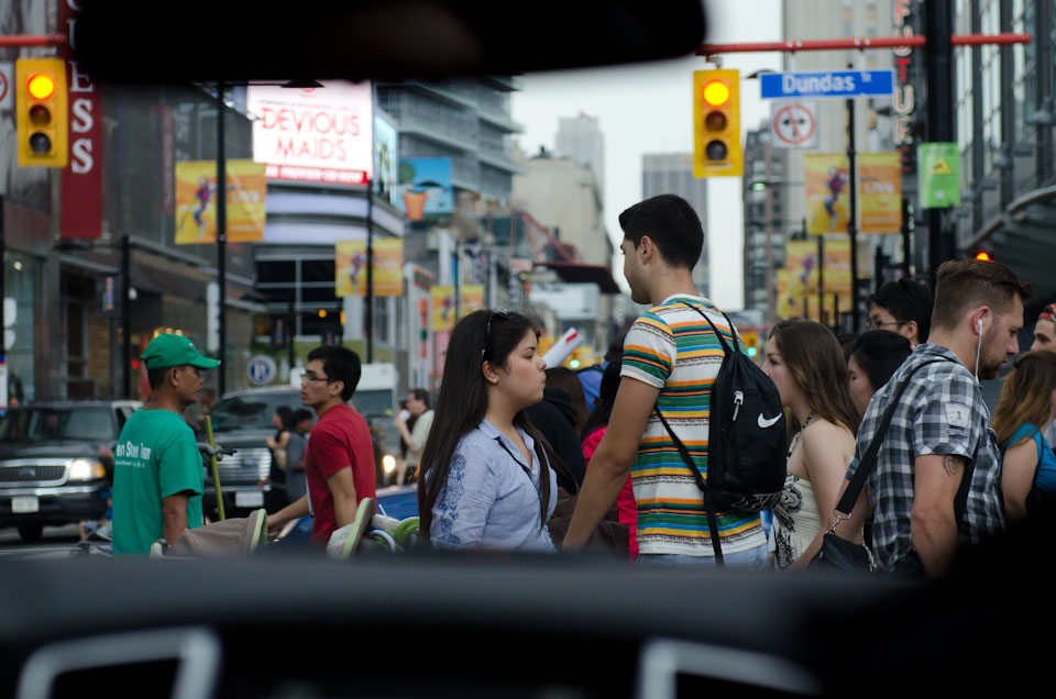 Fußgänger auf der Yongs Street