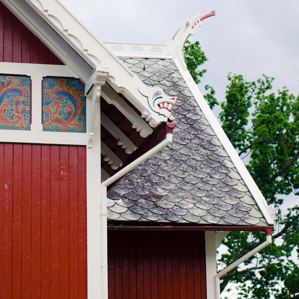 drachenhäuser von Balestrand in Norwegen