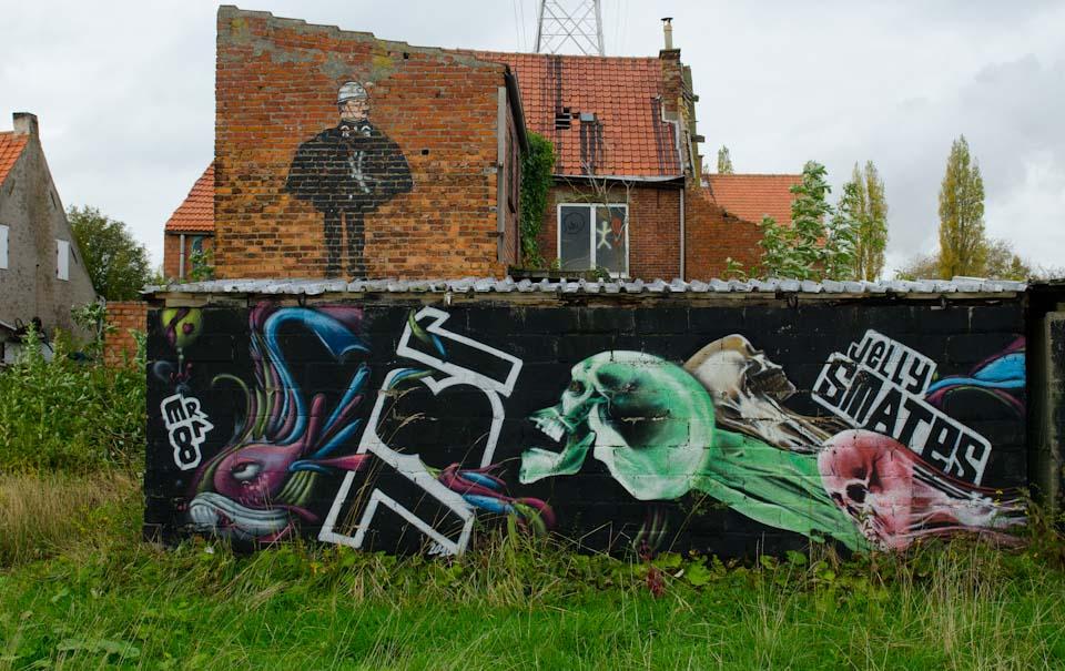 Streetart in Doel