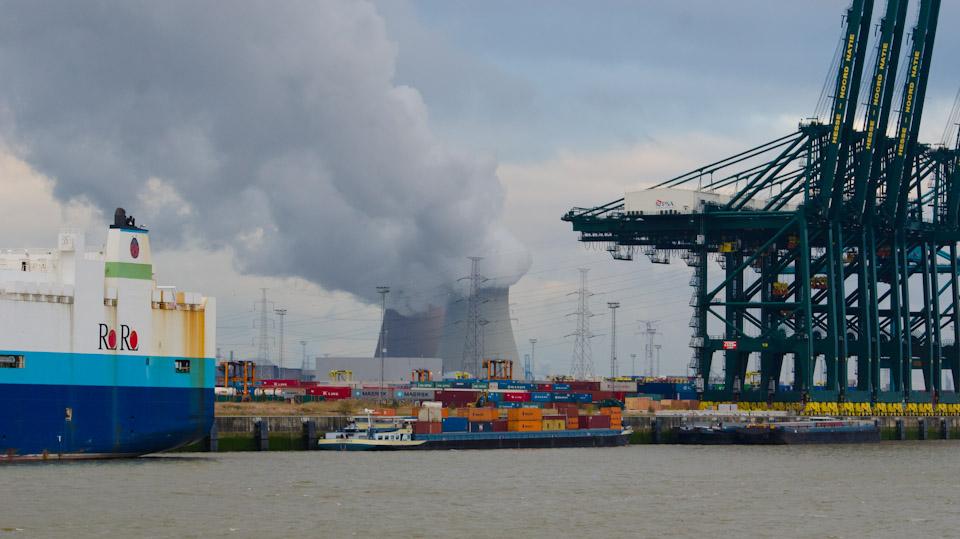 Hafen bei Doel, Belgien