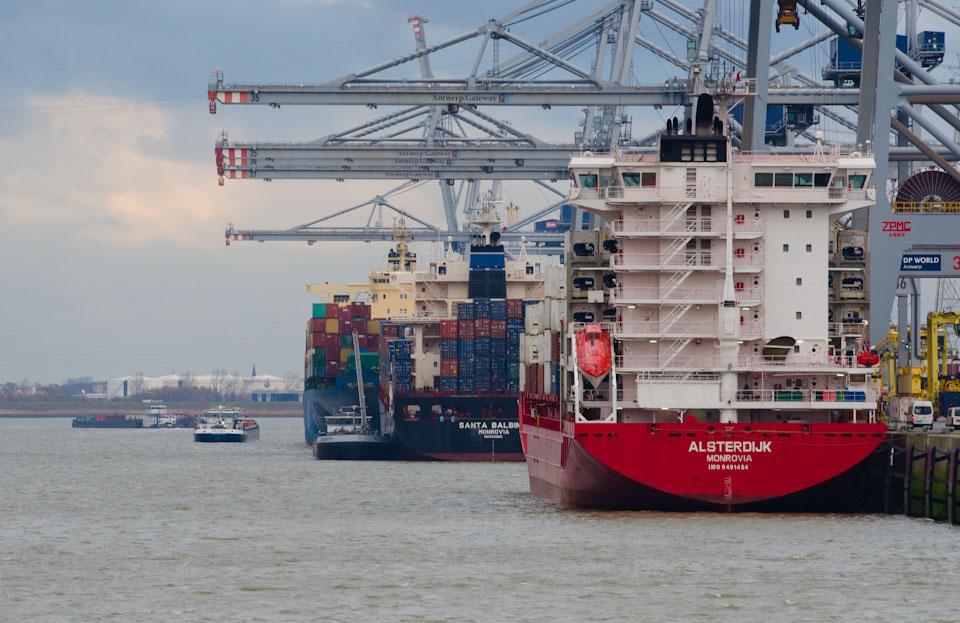 Der Hafen nahe Doel