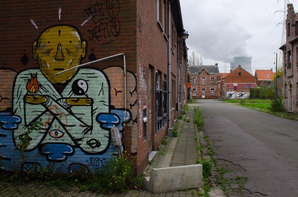 Streetart in Doel, Belgien