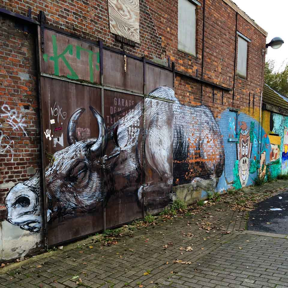 Streetart Doel Geisterdorf Belgien