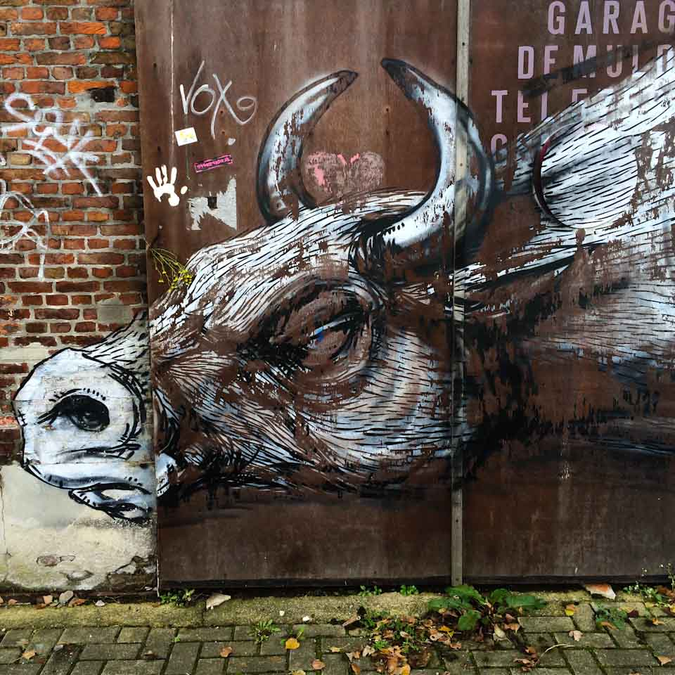 Streetart Doel geisterdorf Belgien 2