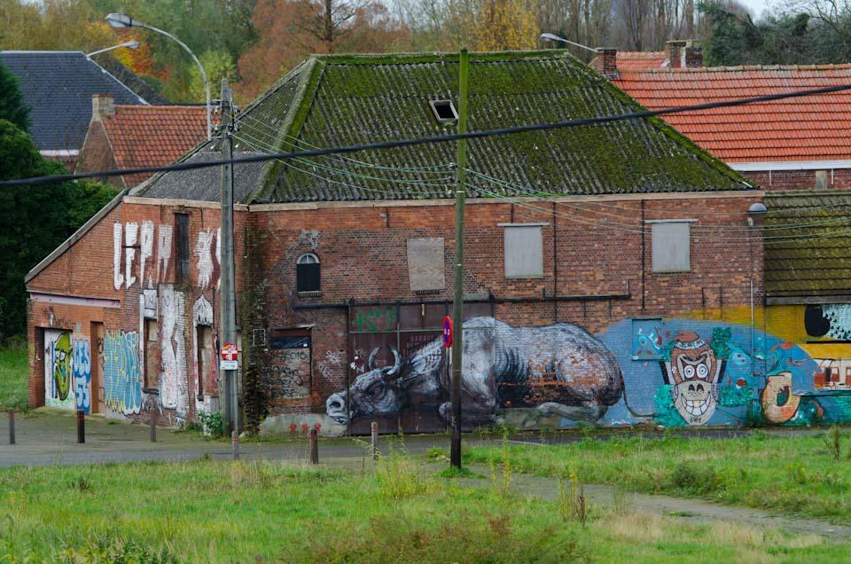 Streetart Doel geisterdorf Belgien 3