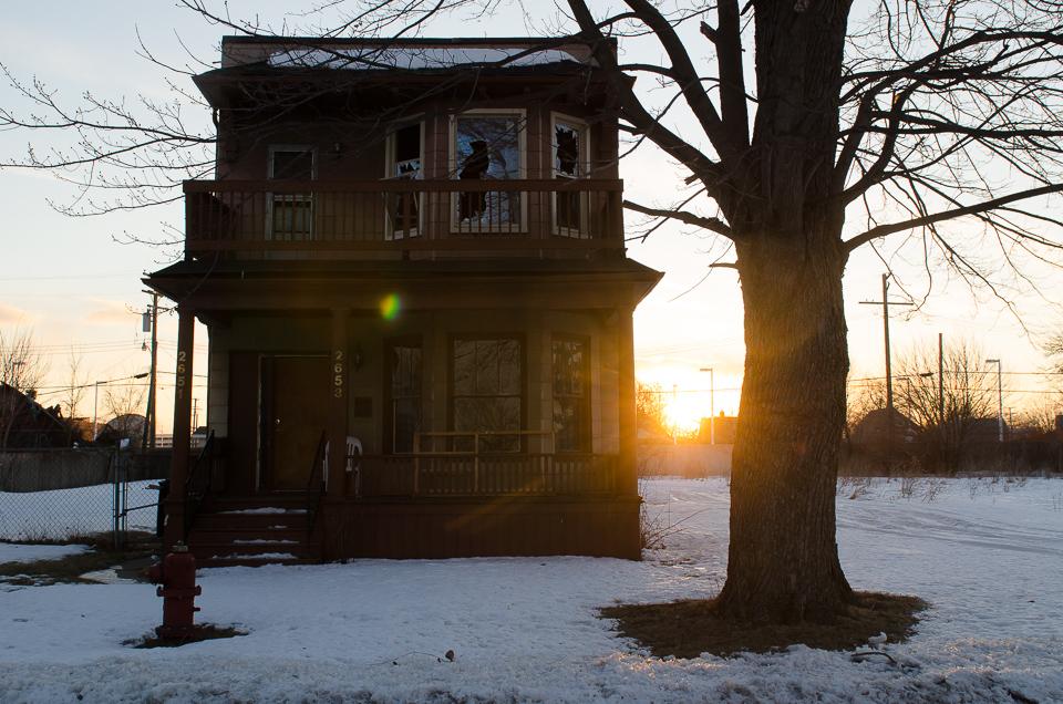 Wetter Detroit verlassenes Haus Detroit