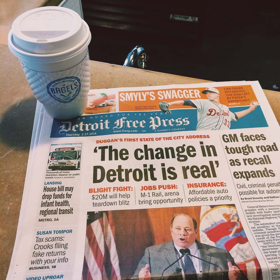 Detroit free press Tageszeitung Detroit