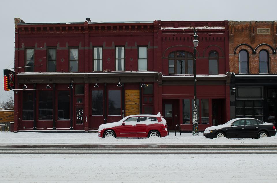 Schnee in Detroit reisebericht Detroit Corktown