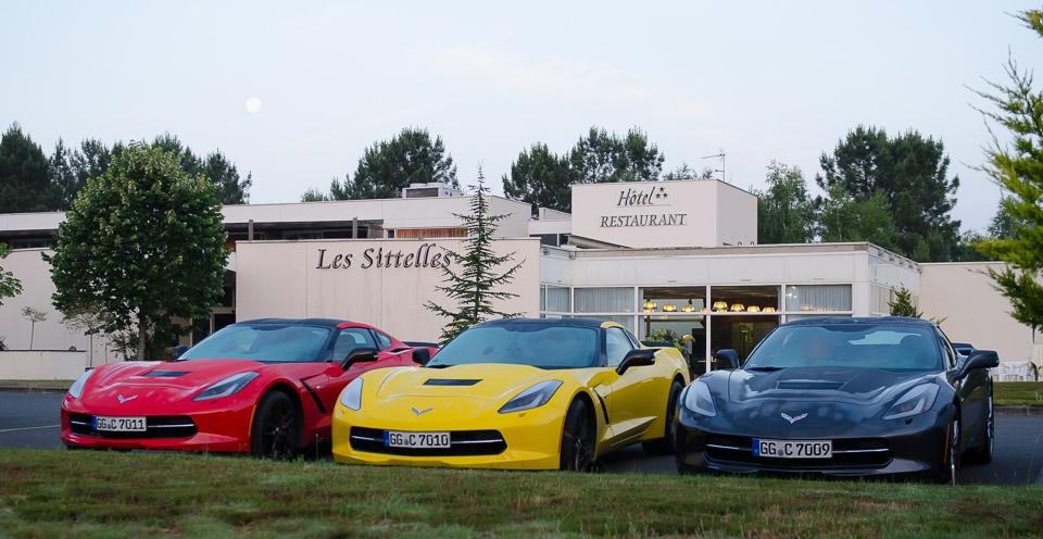 Corvette C7 Treffen bei Le Mans