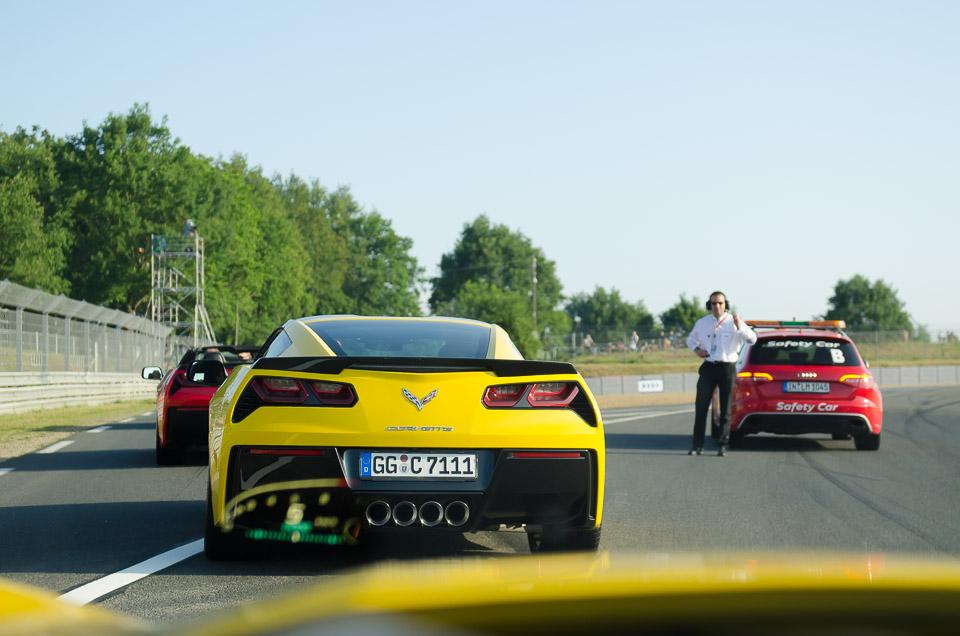 auf der Le Mans Rennstrecke