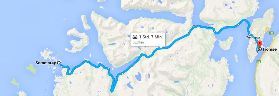 von Sommaroy nach Tromso