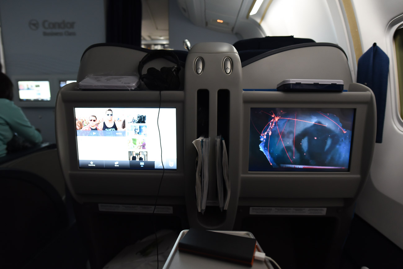Langstreckenflug in der neuen Condor Business Class