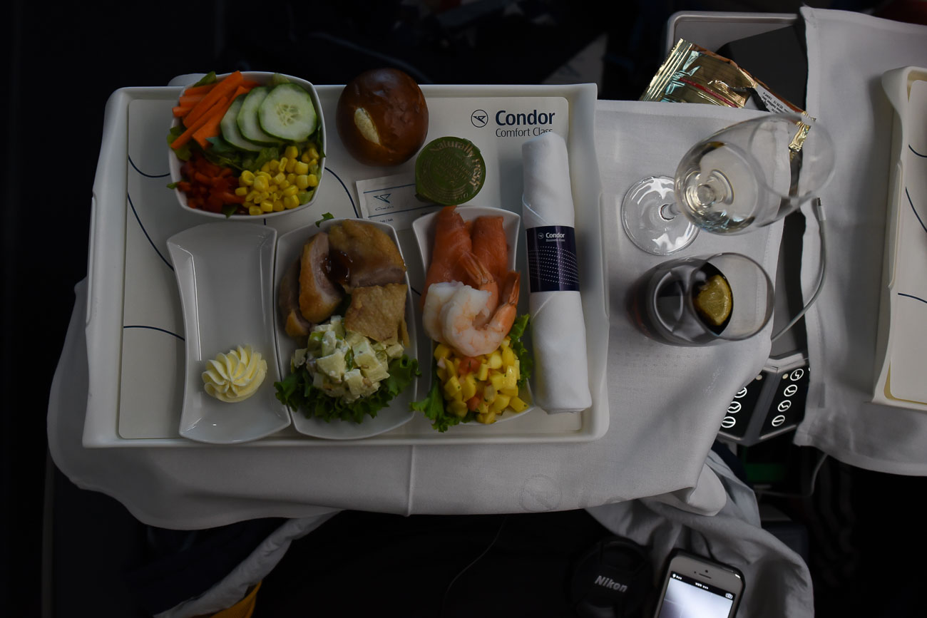 Langstreckenflug in der neuen Condor Business Class