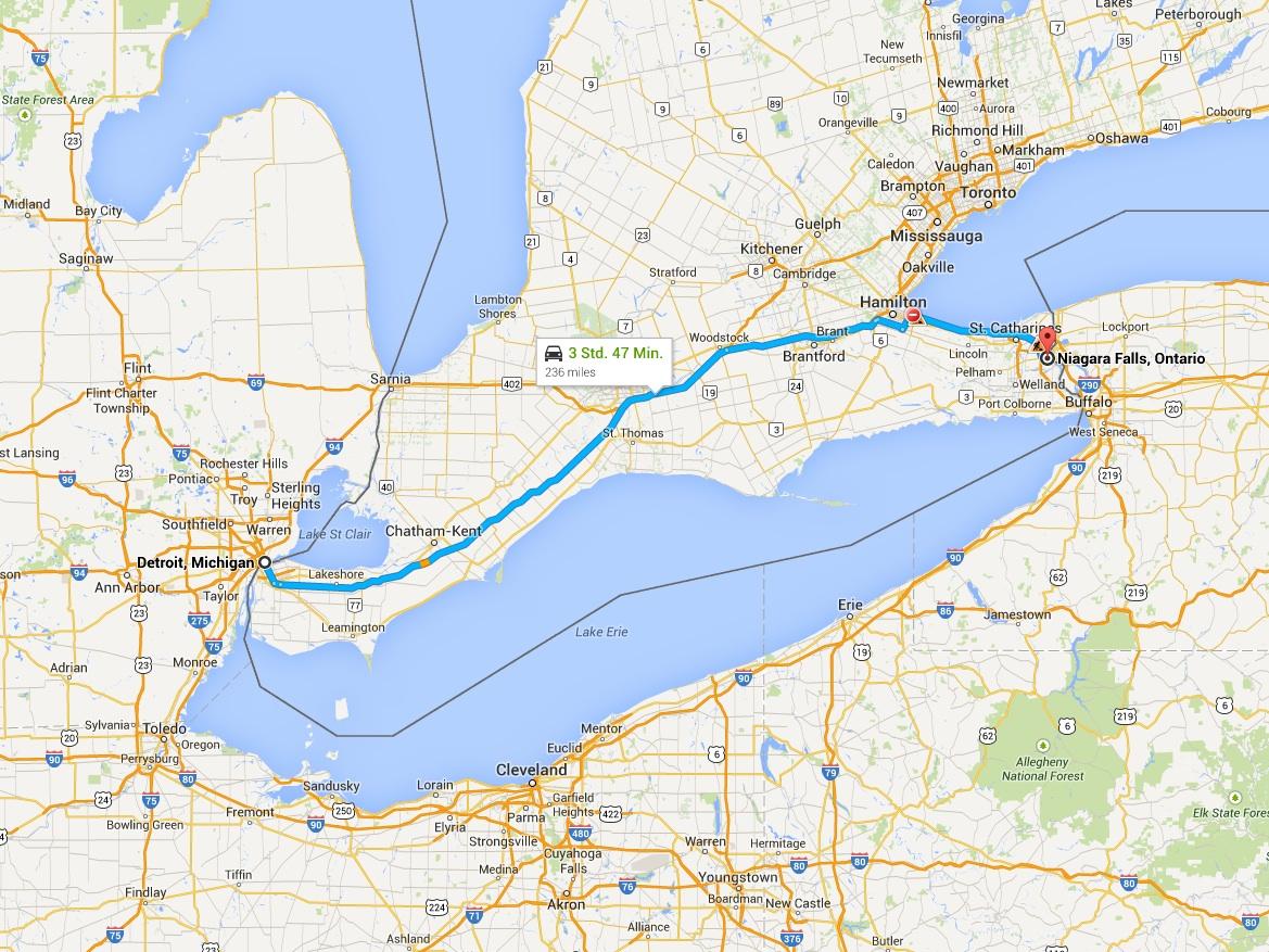 Detroit - Niagara Falls