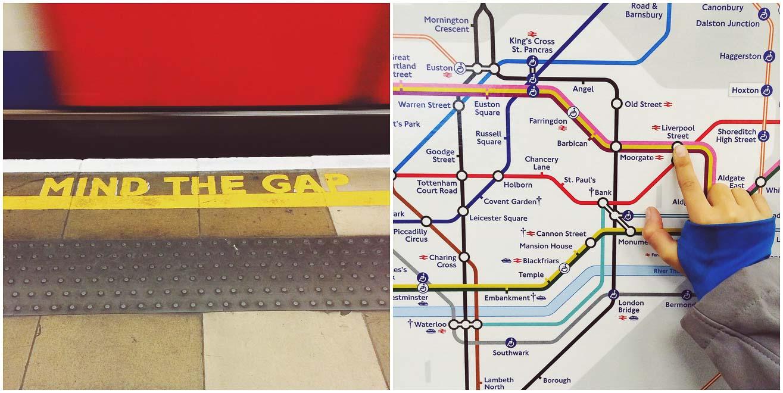 Mind the Gap London Tube Station