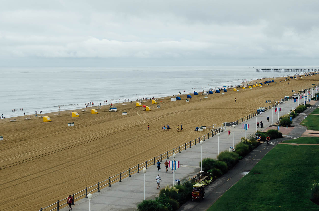 der Strand von Virginia Beach