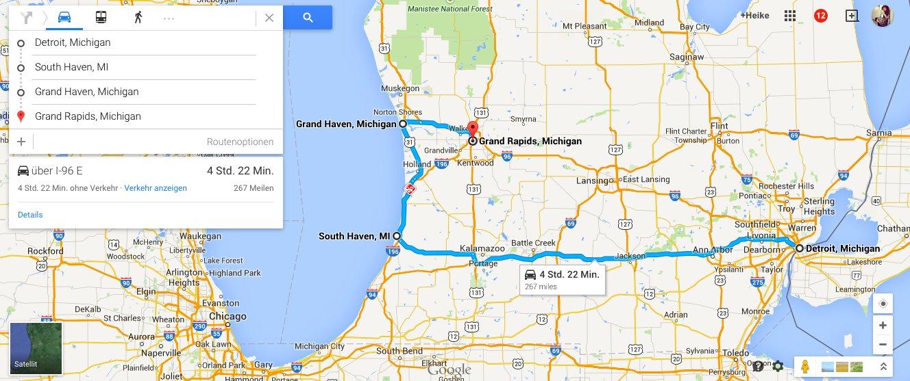 Roadtrip Michigan Tag 1