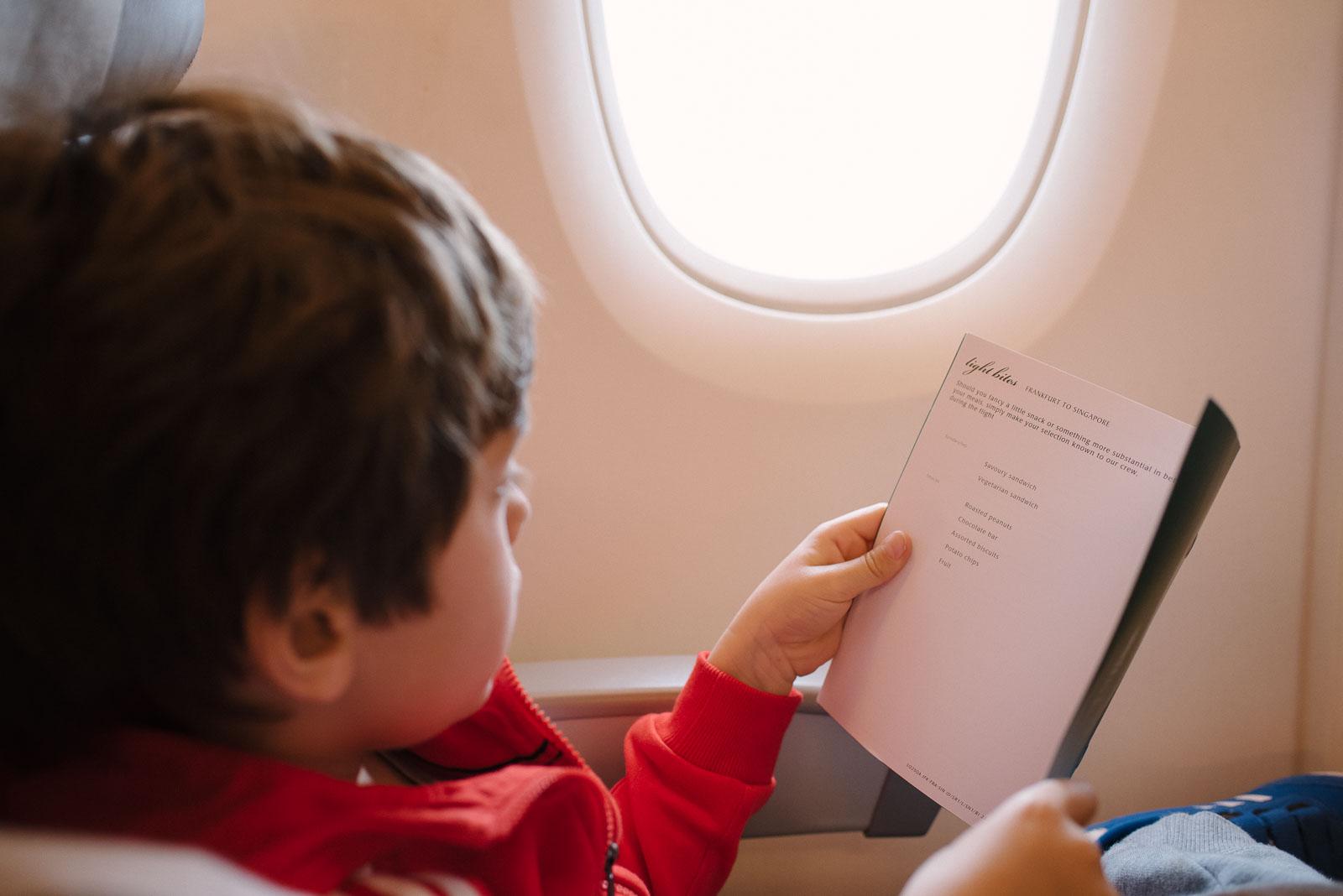 Langstreckenflug mit Kind