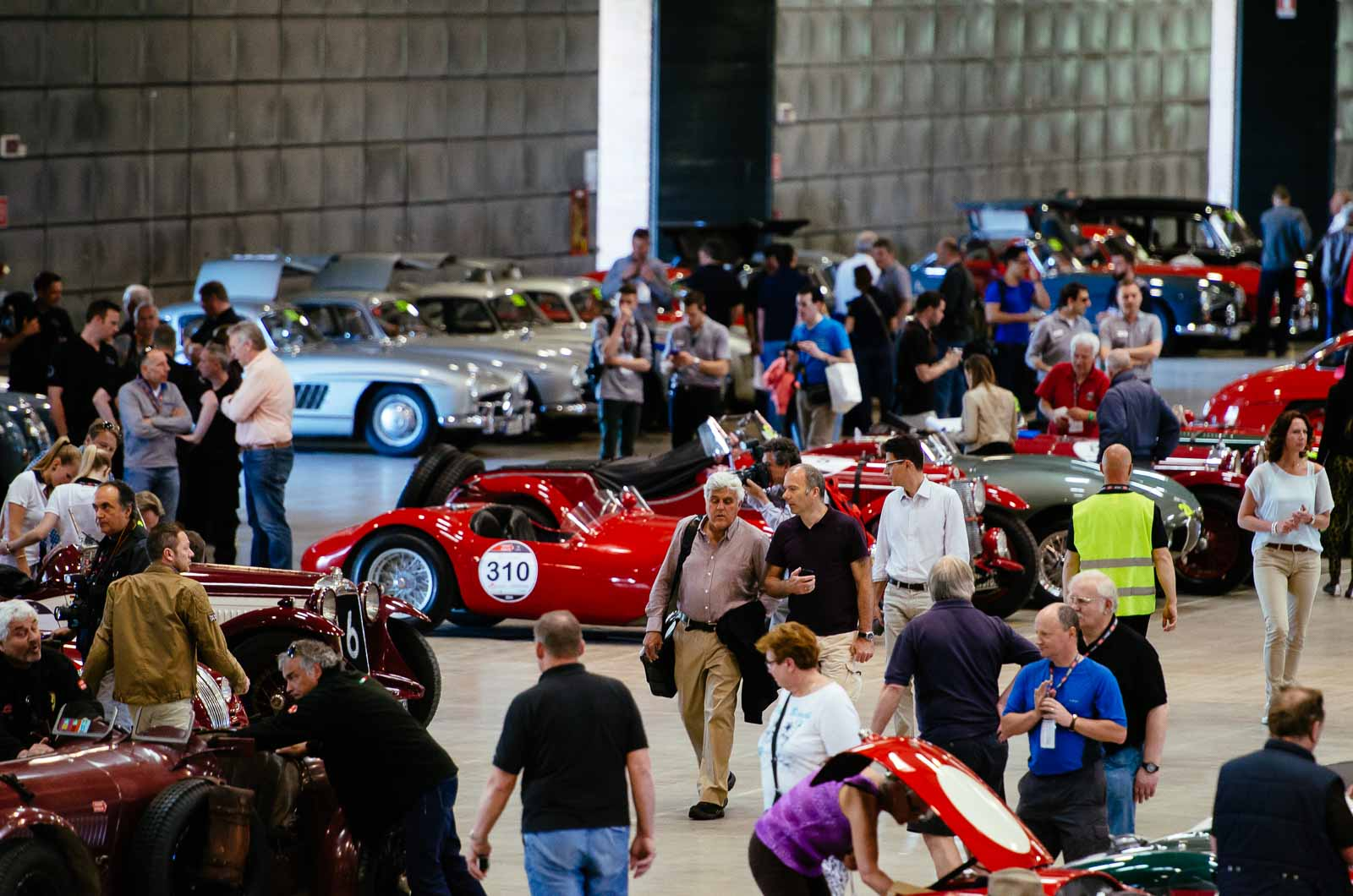 Jay Leno technische Abnahme Mille Miglia 2014