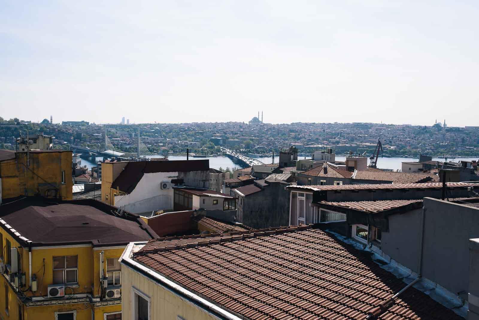 Dachterrasse in Istanbul Galata