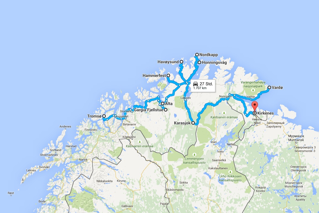 Roadtrip durch die Arktis Reiseplanung Norwegen