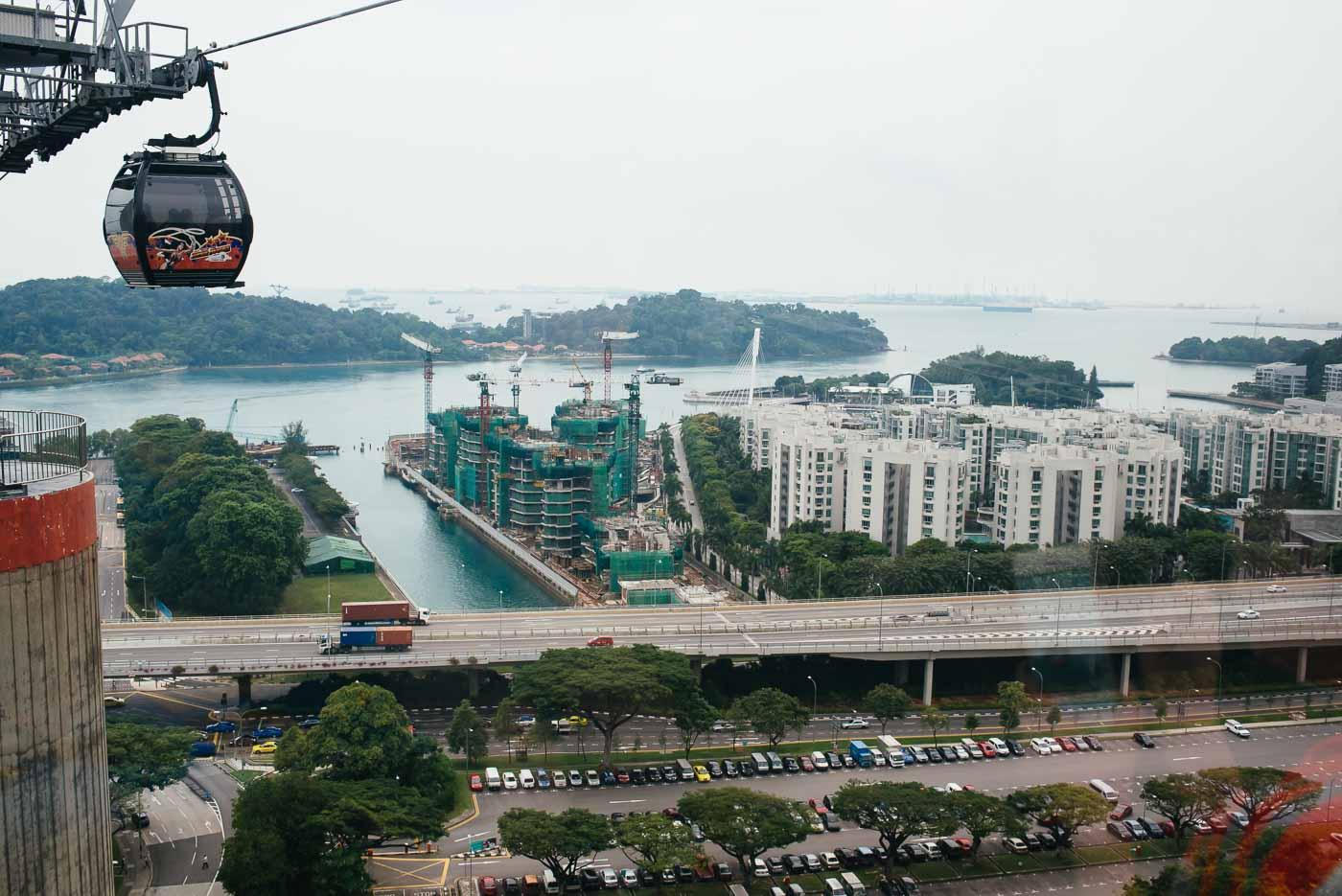Sehenswürdigkeit in Singapur: das Cable Car