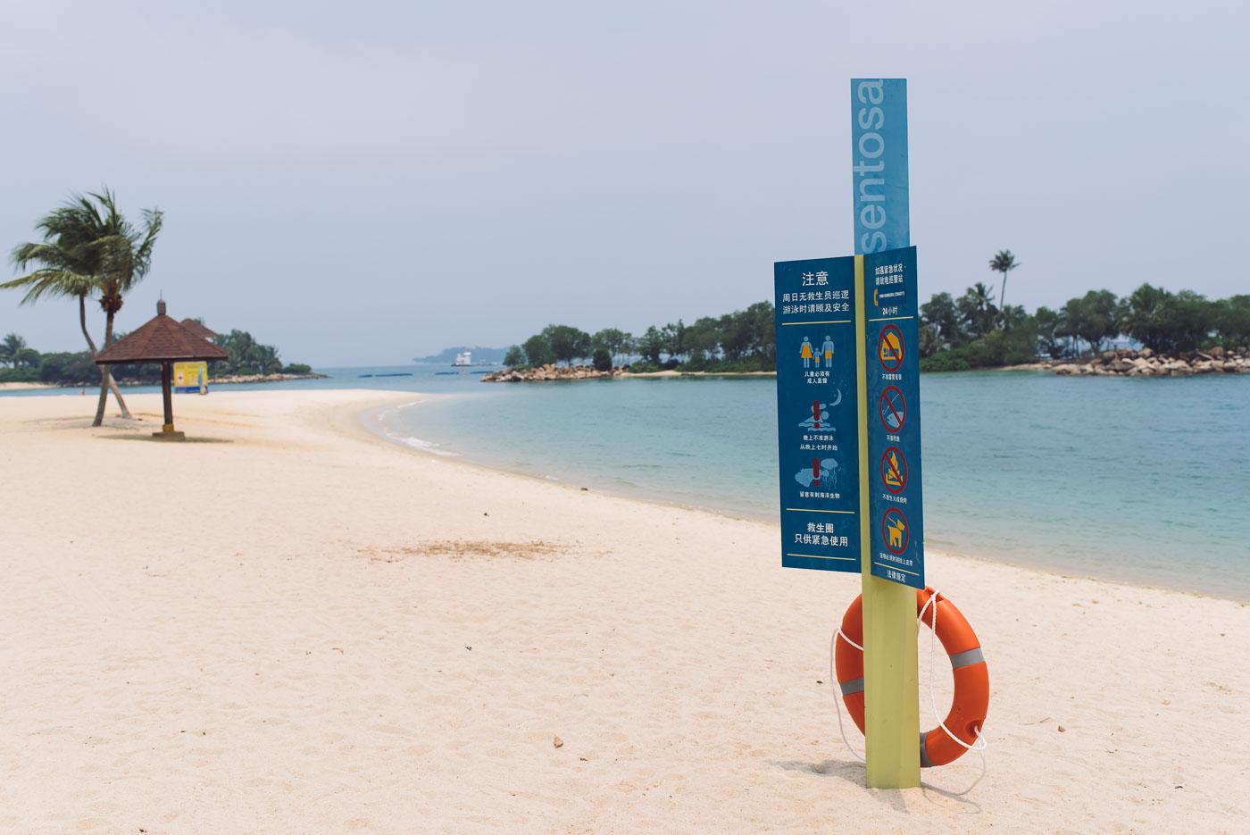 Singapur Sehenswürdigkeiten Sentosa Strand