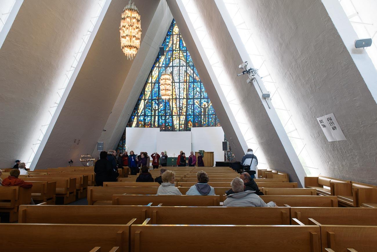 Arktische Kathedrale von Tromso