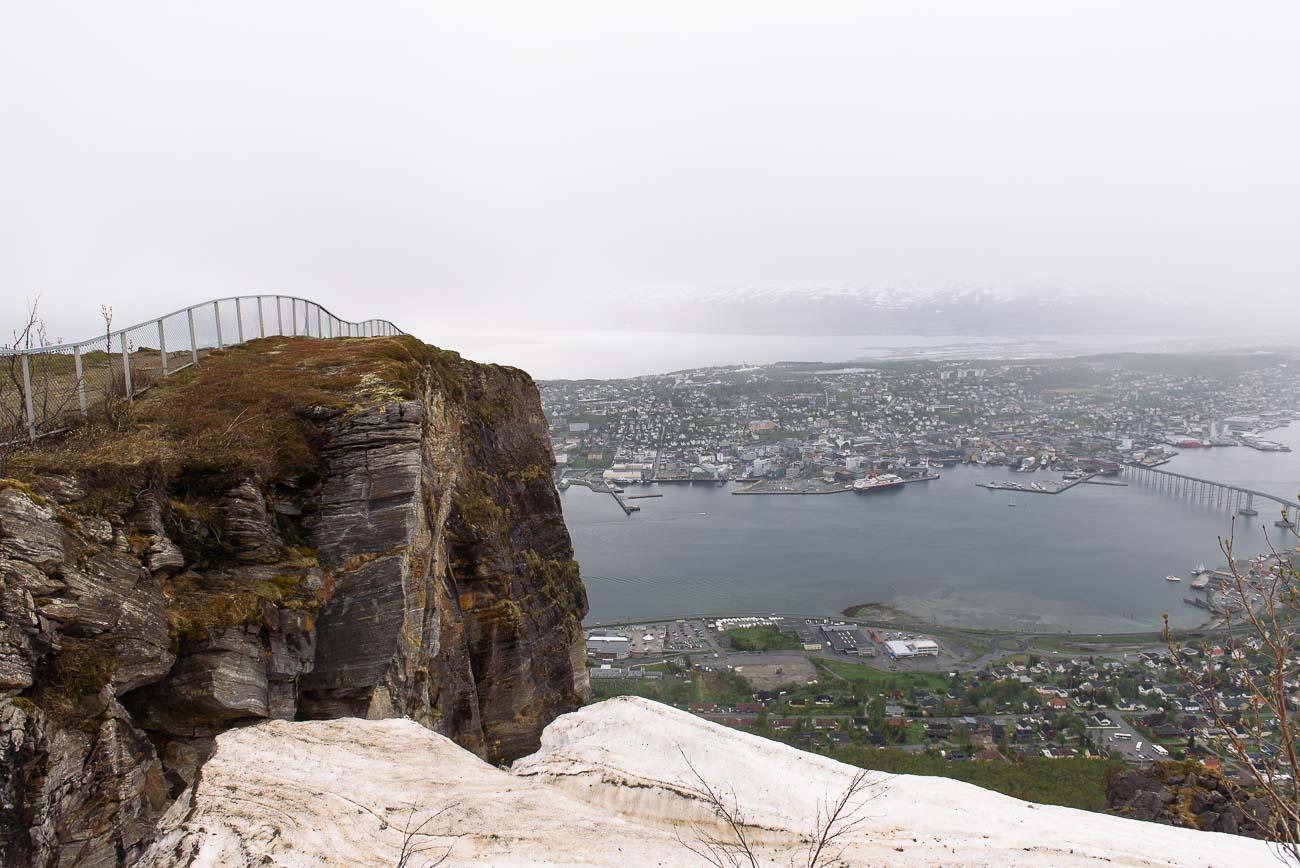 Tromsø von oben - der Fjellheisen