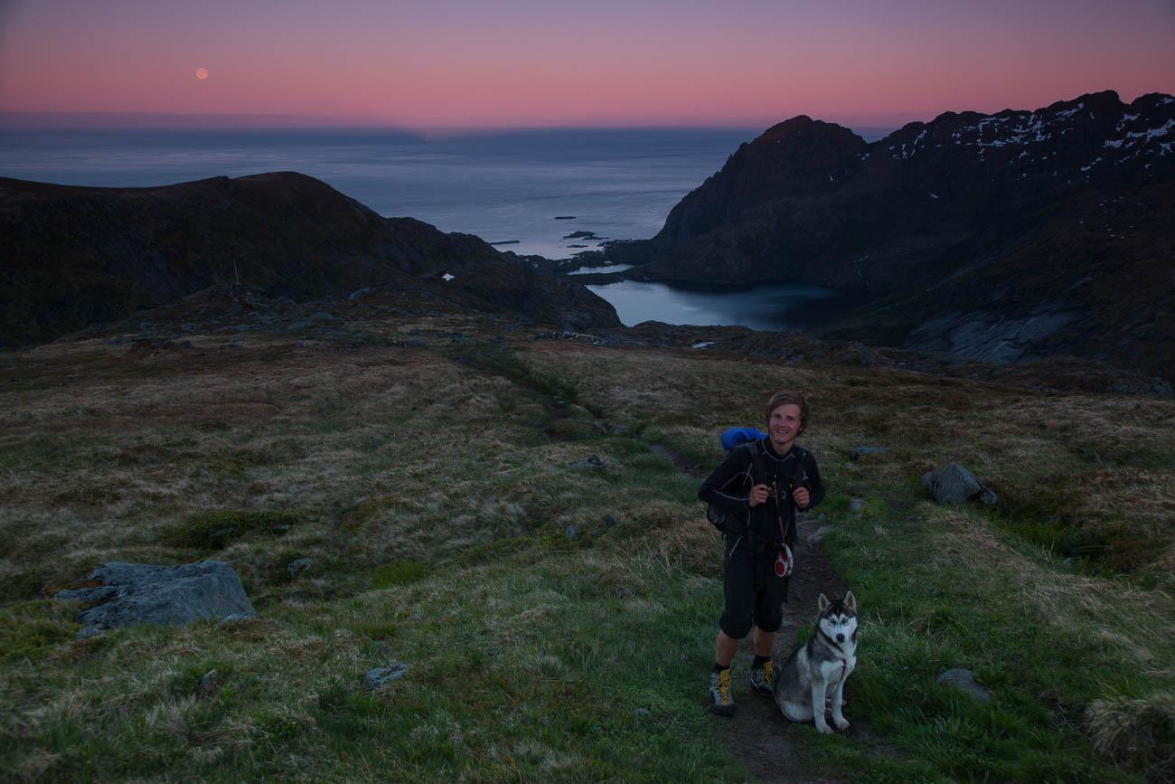 Urlaub in Norwegen mit Hund Mitternachtssonne