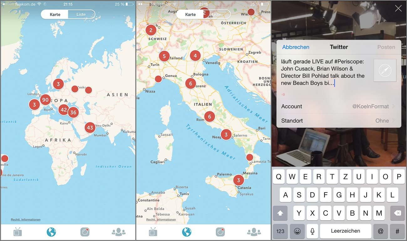 Periscope Update - die Neuerungen der Livestream App Periscope