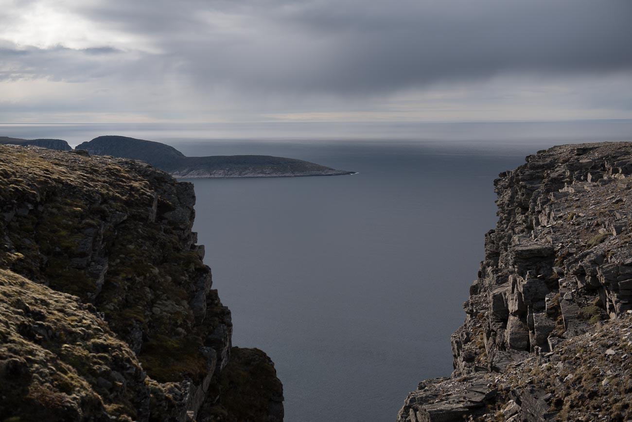 Aussicht auf das Meer vom Nordkap