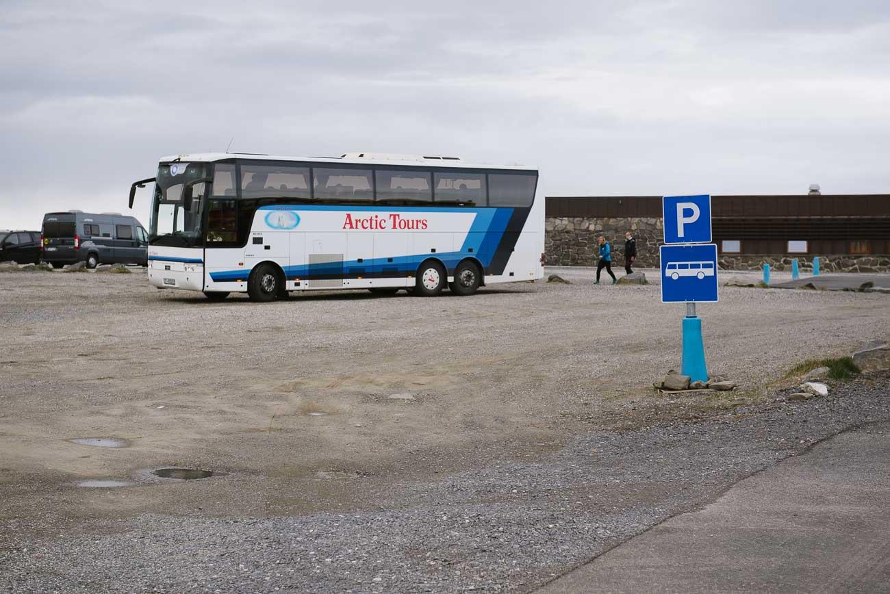 Touristen am Nordkap