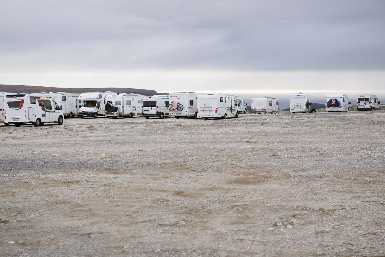 Wohnmobile am Nordkap