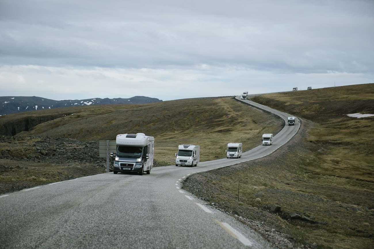 Verkehr auf dem Weg zum Nordkap