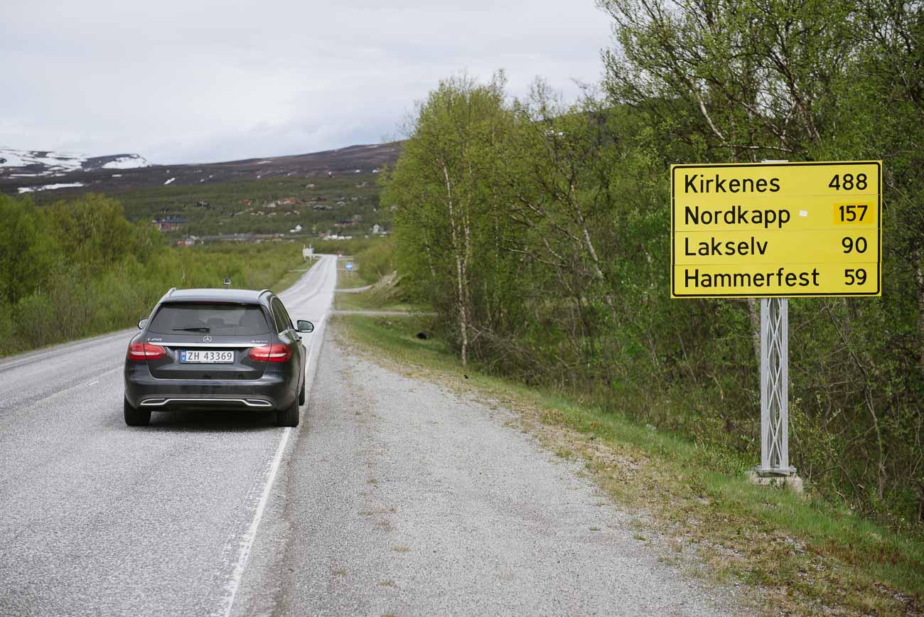 Nordkap noch 157 Kilometer