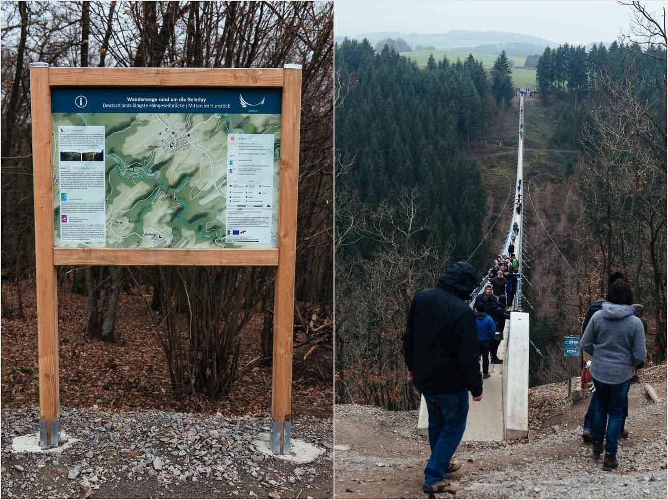 Wanderunegn rund um die Geierlay Bruecke