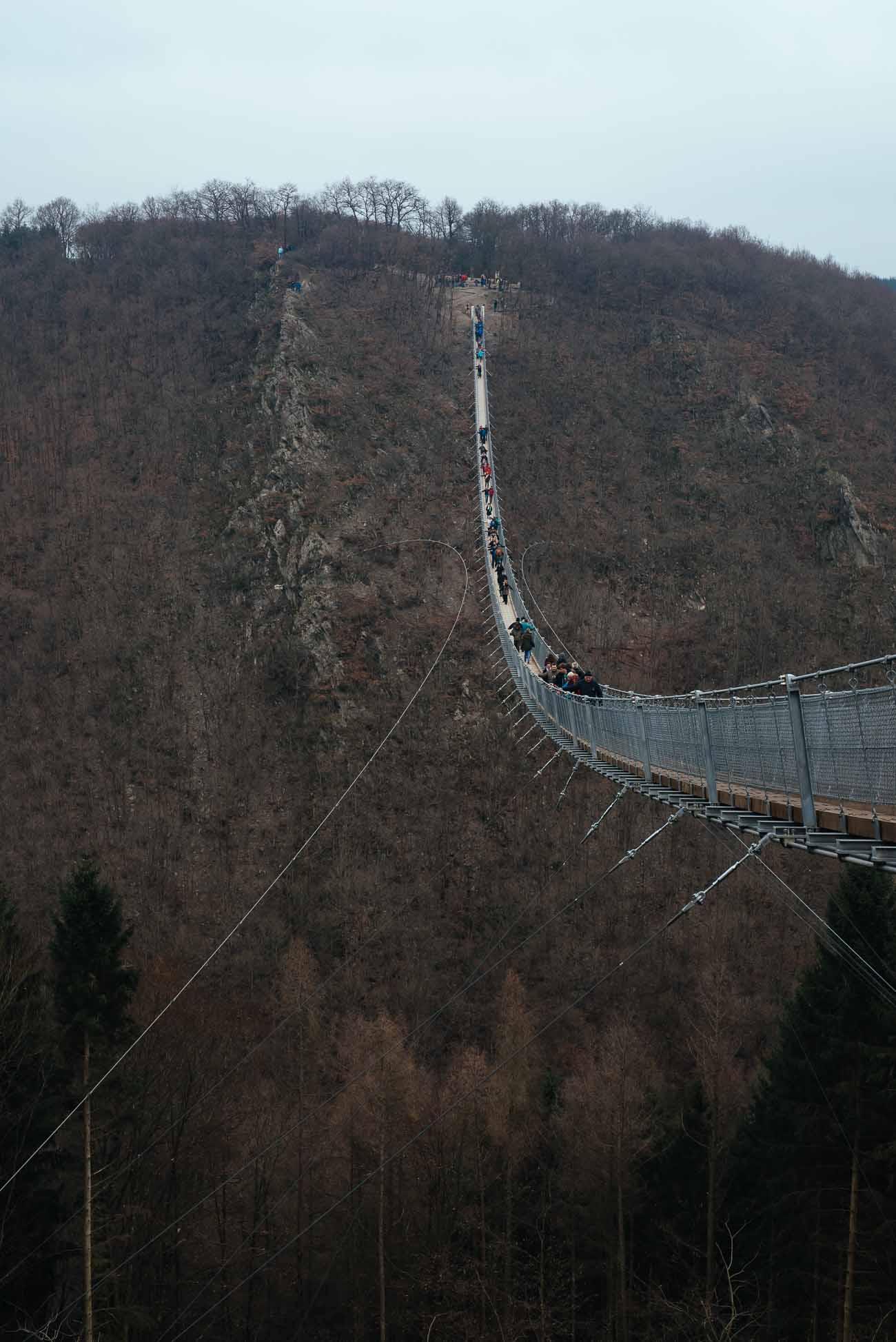 100 Meter sind halt verdammt hoch - die Geierlay Brücke