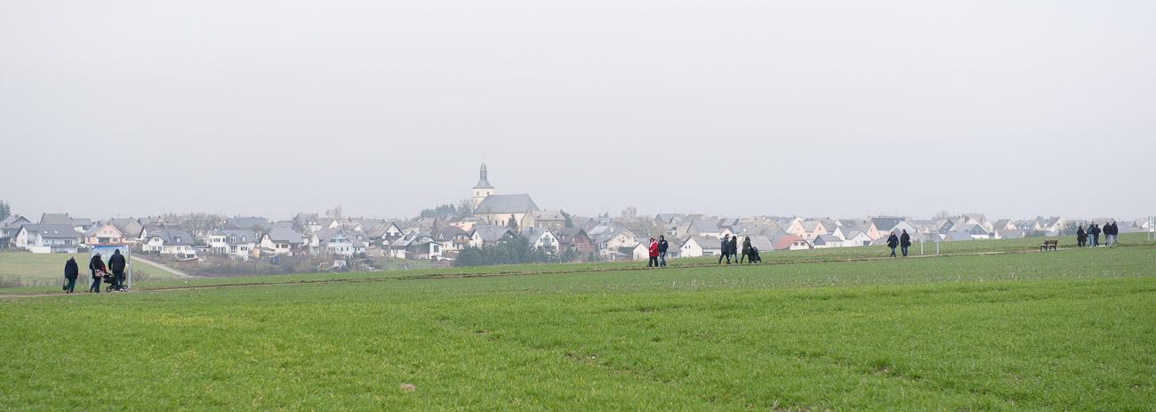 Fußmarsch zur Geierlay Bruecke