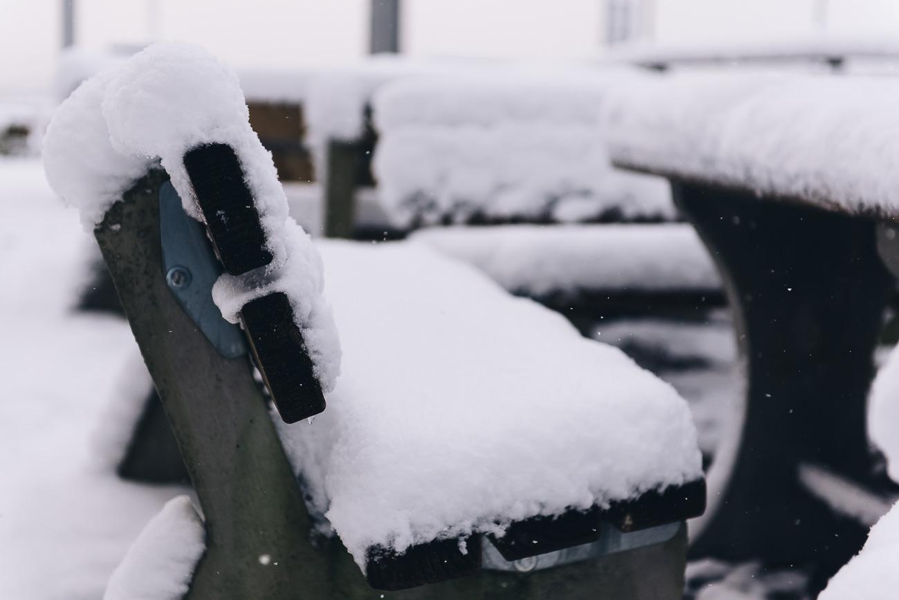 Schnee in Attendorn beim Skywalk Biggesee
