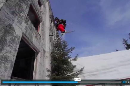 Five Floors down – auf Skiern durch das verlassene Buckner Building in Whittier, Alaska