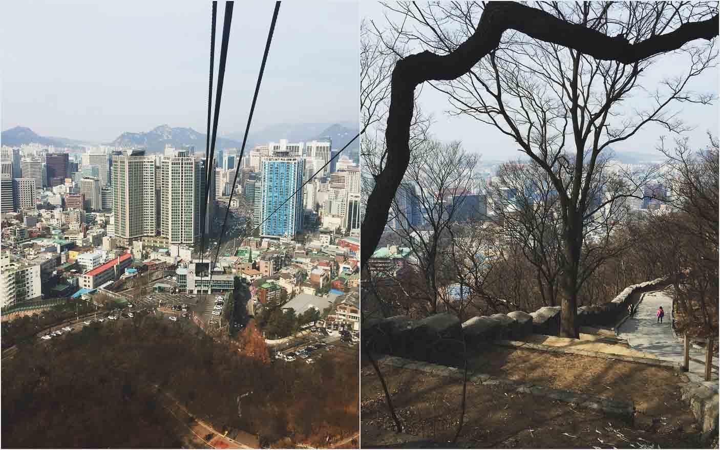Mit der Gondel zum N Tower in Seoul