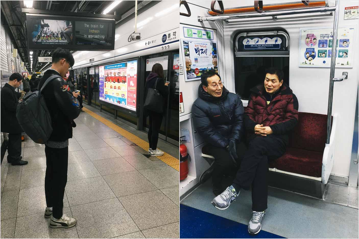 U-Bahn fahren in Seoul