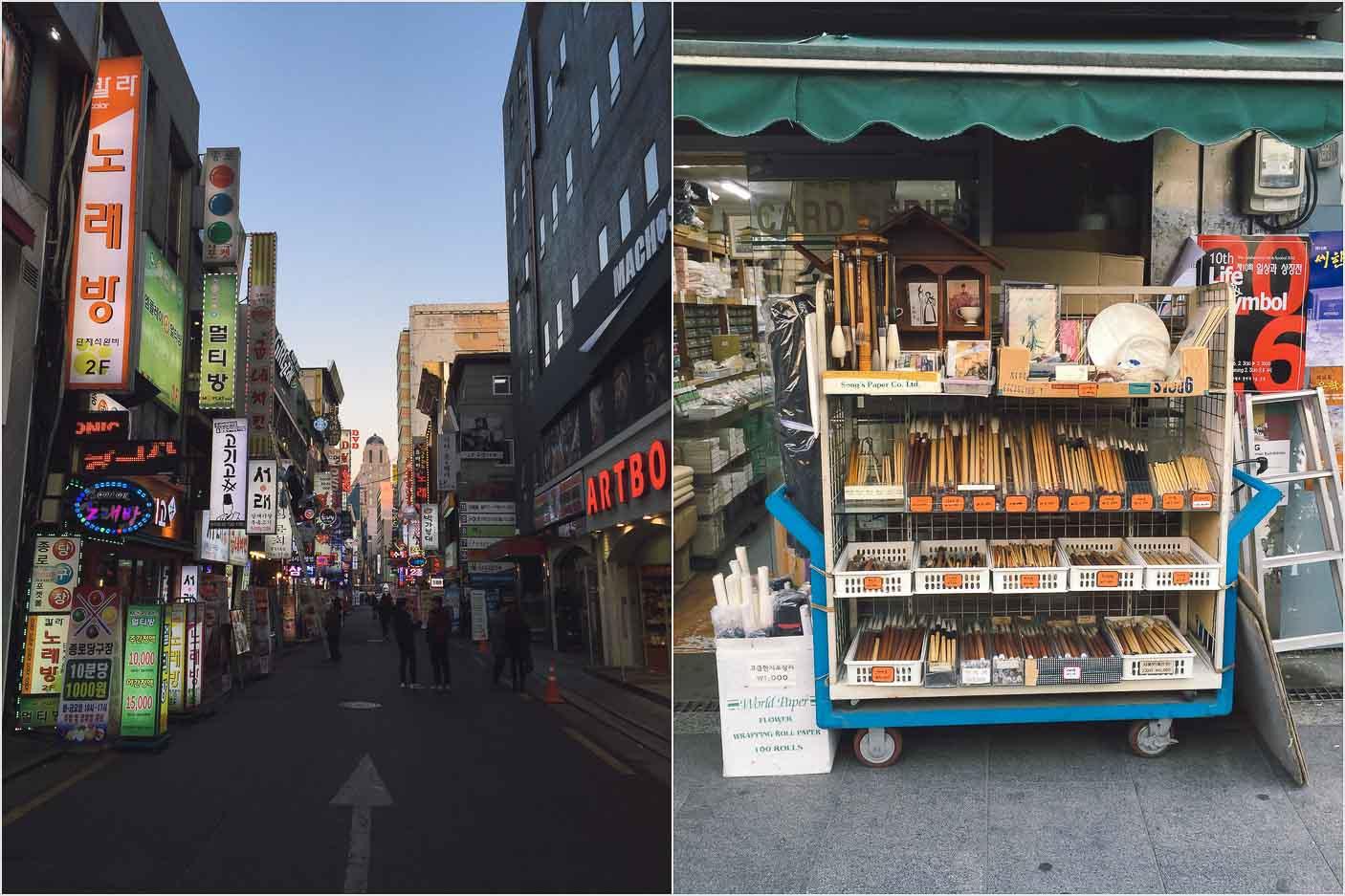 Insa-dong in Seoul, Korea